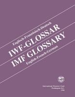 IMF Glossary  English French German PDF