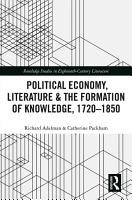 Political Economy  Literature   the Formation of Knowledge  1720 1850 PDF