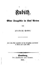 Judith: eine Tragödie in fünf Acten