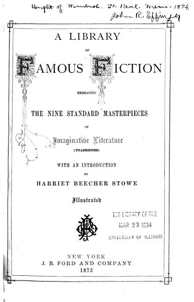 Download A Library of Famous Fiction Book