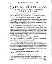 Caelii Aureliani, Siccensis, medici vetusti... De morbis acutis & chronicisz libri VIII...