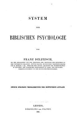 System der biblischen Psychologie PDF