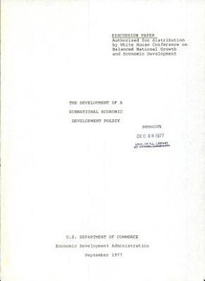 The Development of a Subnational Economic Development Policy PDF