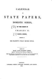 Calendar of State Papers: Preserved in the State Paper Department of Her Majesty's Public Record Office. 1665 - 1666, Volume 5