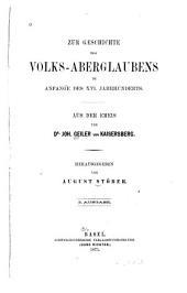 Zur Geschichte des Volks-Aberglaubens im Anfange des XVIten Jahrhunderts