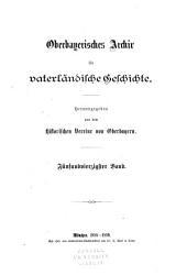 Oberbayerisches Archiv für vaterländische Geschichte: Band 45