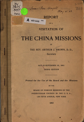 Report of a Visitation of the China Missions