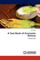 A Text Book Of Economic Botany Book PDF