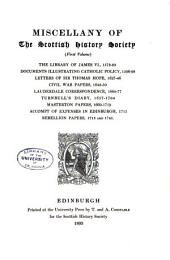Publications of the Scottish History Society: Volume 15
