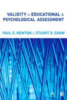 Validity in Educational and Psychological Assessment PDF