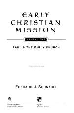 Early Christian Mission: Paul & the early church
