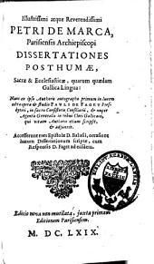 Dissertationes postumæ, secræ et ecclesiasticæ, quarum quædam gallica lingua