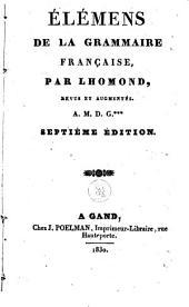 Élémens de la grammaire française