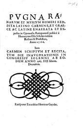 Pugna Ranarum Et Murium