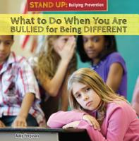 What to Do When You Are Bullied for Being Different PDF