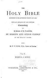 The Holy Bible, According to the Authorized Version (A.D. 1611): With an Explanatory and Critical Commentary and a Revision of the Translation, Volume 2