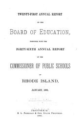 Annual Report of the State Board of Education