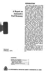 A report on automotive fuel economy
