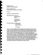 Sierra Nevada National Forest (N.F.), Sierra Nevada Forest Plan Amendment