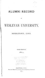 Alumni Record of Wesleyan University  Middletown  Conn PDF