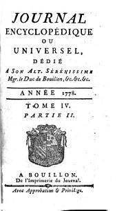 Journal encyclopédique: Volume4,Partie2