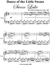 Dance of the Little Swans Swan Lake Elementary Piano Sheet Music