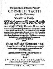 Historische Beschreibung der Röm. Kaiser: Erstes Buch