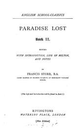 Paradise lost, book i. (ii.), ed. with intr. and notes by F. Storr: Book 2