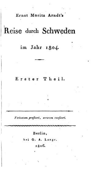 Reise durch Schweden im Jahre 1804  Bd 1 4 PDF