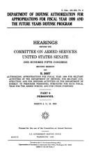 Department of Defense Authorization for Appropriations for Fiscal Year 1999 and the Future Years Defense Program  Personnel PDF
