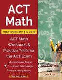 ACT Math Prep Book 2018   2019