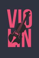 Vintage Violin Notebook   Gift for Violin Player   Retro Violin Diary   Violin Lesson Journal PDF
