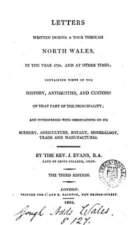 Letters written during a tour through North Wales PDF