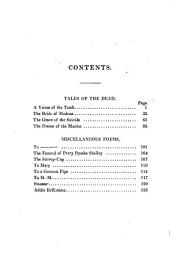 Tales of the Dead; and Other Poems