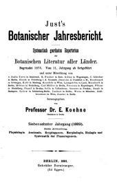 Just's Botanischer Jahresbericht: Band 17,Ausgabe 1