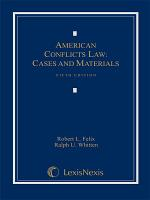 American Conflicts Law  Cases and Materials PDF
