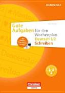 Gute Aufgaben f  r den Wochenplan Deutsch 1 2  Schreiben PDF