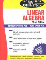 Schaum s Outline of Theory and Problems of Linear Algebra PDF