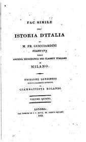 Fac Simile dell'historia d'Italia, 5: Stampadata della Societá tipografica dei classiei italiani in Milano