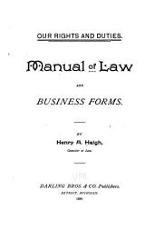 Manual of Law and Business Forms