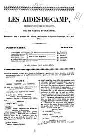 """""""Les"""" aides-de-camp: comedie-vaudeville en l acte, Volume2;Volume4"""