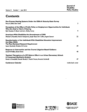 Journal of Disability Policy Studies