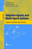 Adaptive Agents and Multi Agent Systems PDF