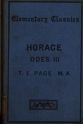 Q. Horatii Flacci Carminum liber i. (-iv.) ed. by T.E. Page. Lib.1-3
