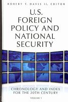U S  Foreign Policy and National Security PDF