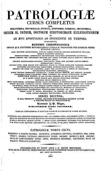 Download Patrologiae Cursus Completus  Series Latina Book