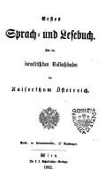 Erstes Sprach  und Lesebuch fur die israelitischen Volksschulen im Kaiserthum Osterreich PDF