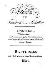 Gedichte: Vermehrt mit des verewigten Verfassers Leben und einer karakteristischen Uebersicht seiner Werke, Bände 1-2