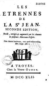 Les Etrennes de la Saint-Jean...