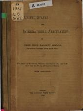 The United States and International Arbitration: Volume 1, Part 26